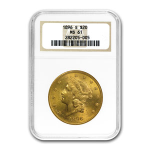 1890s 10-Coin S Mint $20 Gold Liberty Double Eagle Set MS-61 NGC