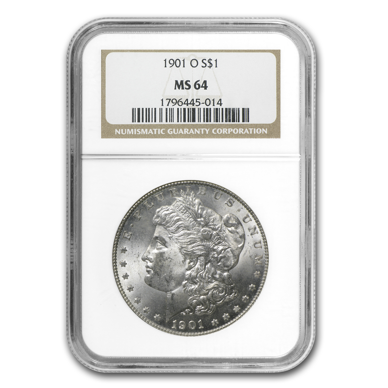 1901-O Morgan Dollar MS-64 NGC