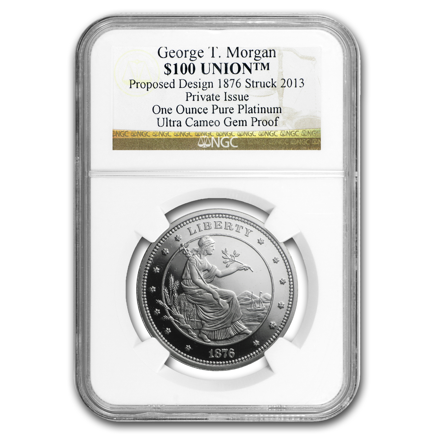 1 oz Platinum $100 Union George T. Morgan NGC Proof
