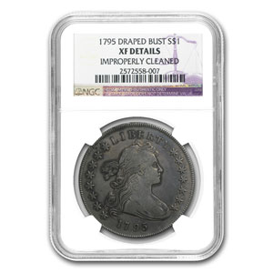 1795 Draped Bust Dollar XF Details NGC (Cleaned)