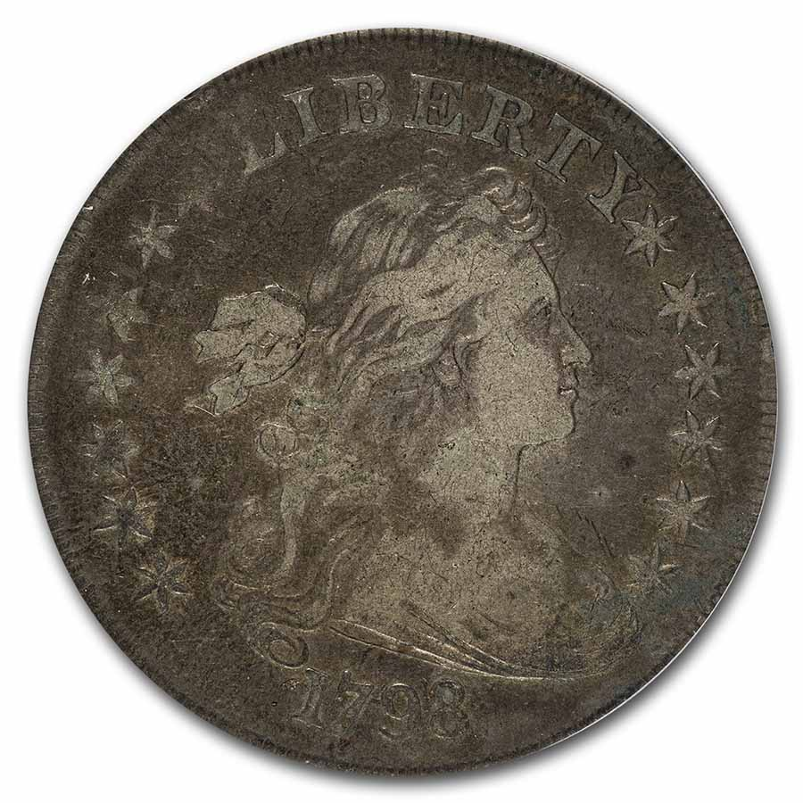 1798 Draped Bust Dollar Heraldic Eagle VF-20 PCGS