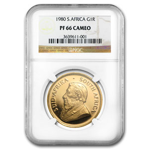 1980 1 oz Gold South African Krugerrand PF-66 Cameo NGC