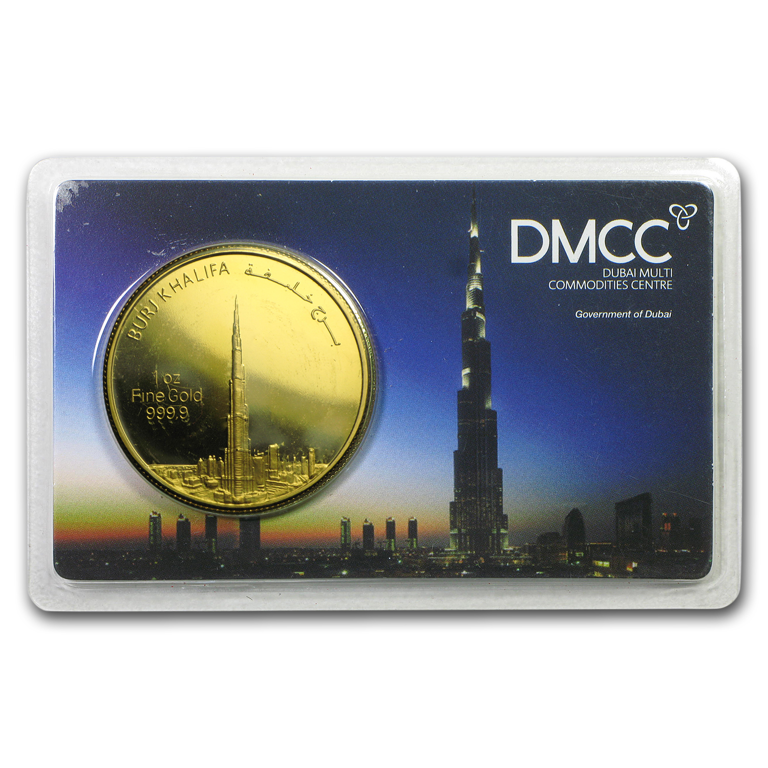 1 oz Gold Round - UAE 2012 Dubai Gold Burj Khalifa (In Assay)