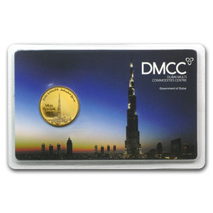 1/4 oz Gold Rounds - UAE 2012 Dubai Gold Burj Khalifa (In Assay)