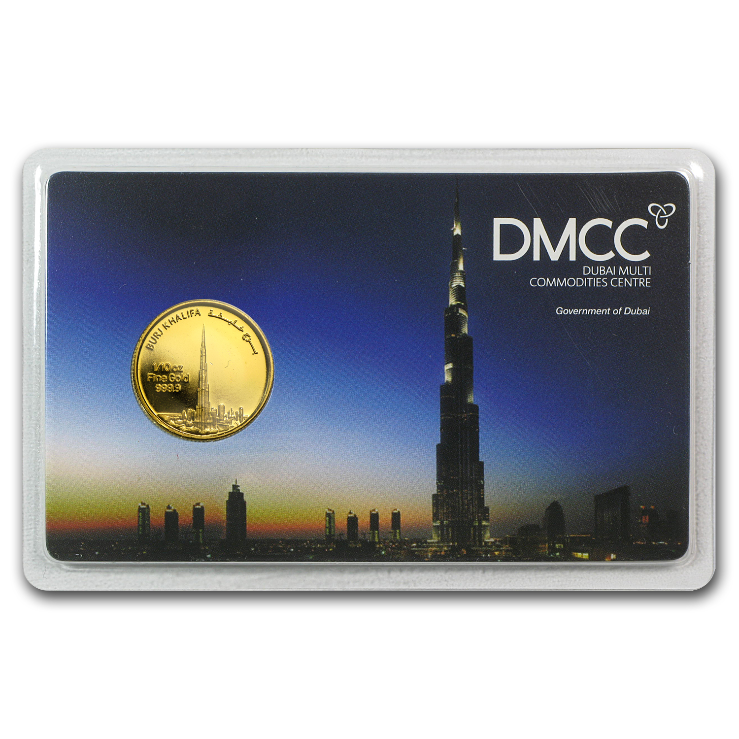 1/10 oz Gold Rounds - UAE 2012 Dubai Gold Burj Khalifa (In Assay)