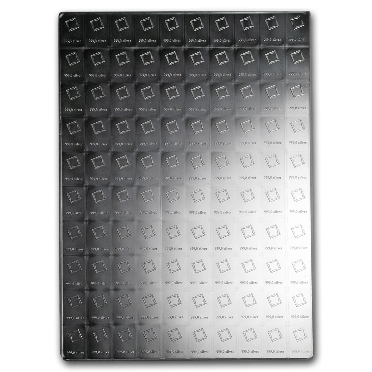100 x 1 gram Silver Bars - Valcambi Silver CombiBar™ (With Assay)