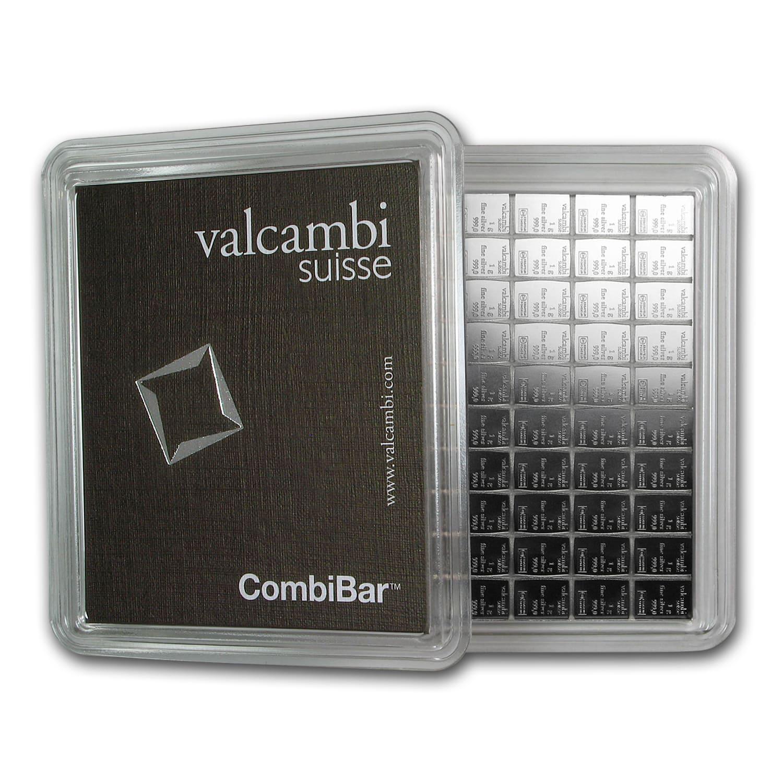 100x 1 Gram Silver Bar Valcambi Silver Combibar W
