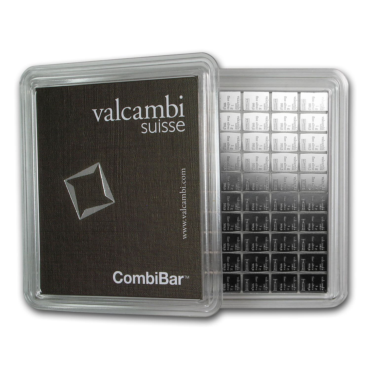 100 x 1 gram Silver Bar - Valcambi Silver CombiBar™ (With Assay)
