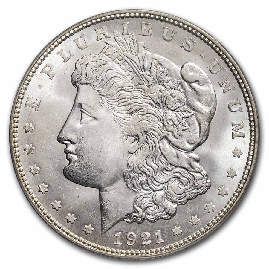 1921-D Morgan Dollar - MS-64 PCGS