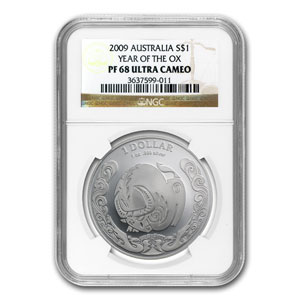 2009 Australia Silver Year of the Ox PF-68 NGC