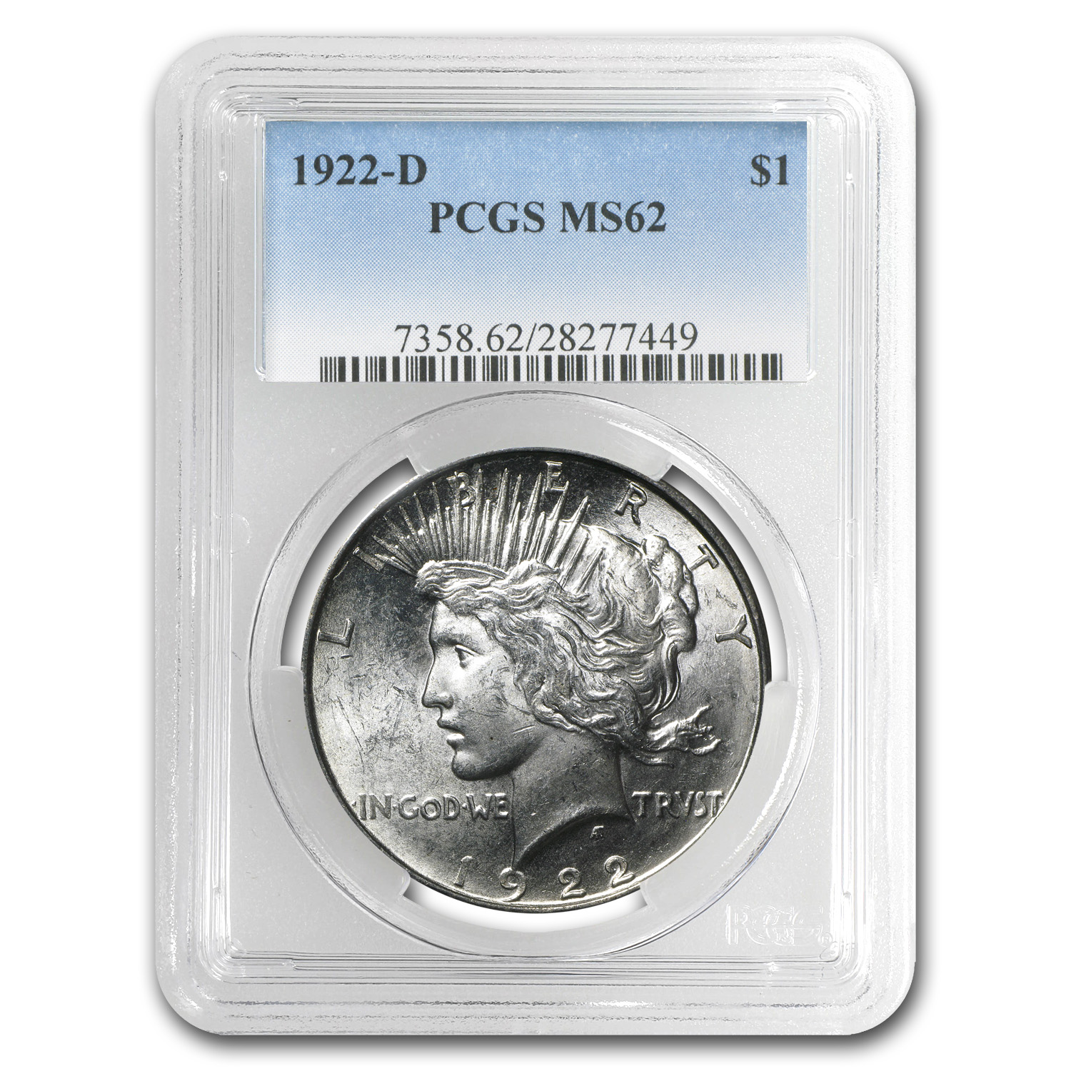 1922-D Peace Dollar MS-62 PCGS