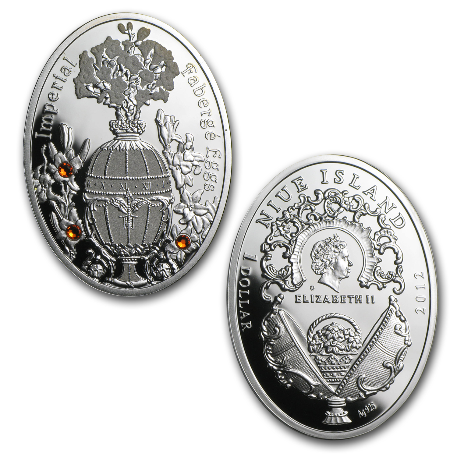 Niue 9-Coin Silver $1 Imperial Faberge Eggs Series Proof Set