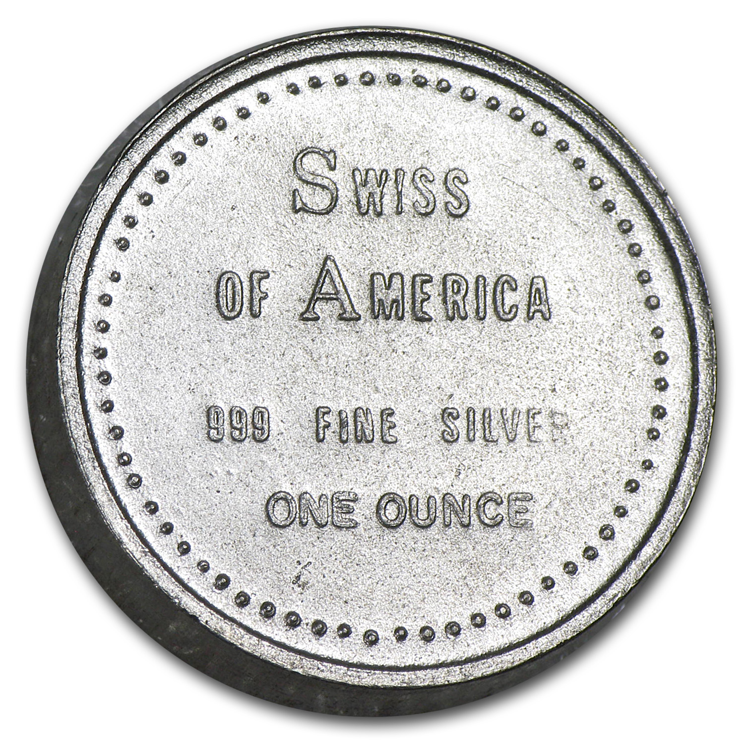 1 oz Silver Round - Swiss of America (Golden West)