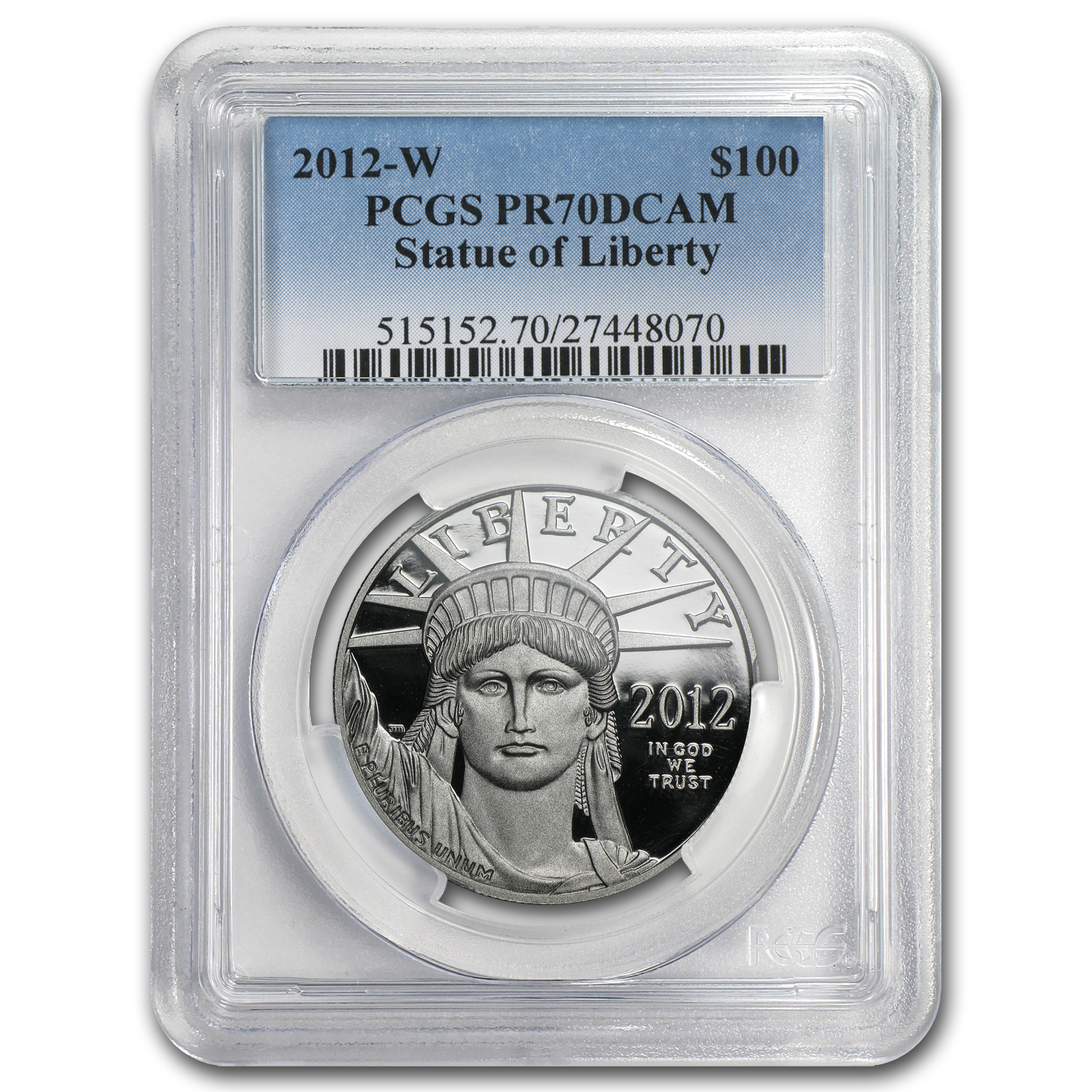 2012-W 1 oz Proof Platinum American Eagle PR-70 PCGS