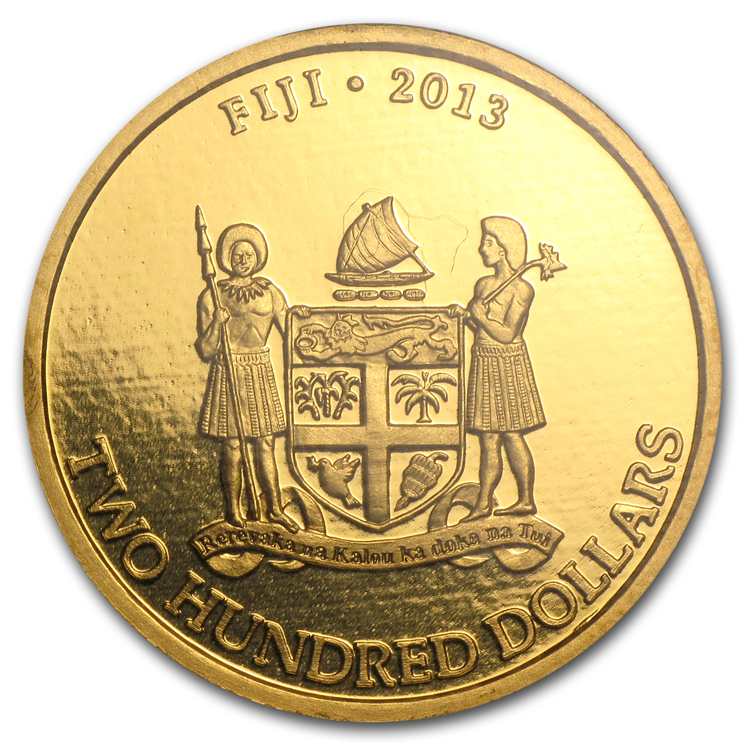 2013 1 oz .9999 Gold New Zealand Mint $200 Fiji Taku (In Assay)