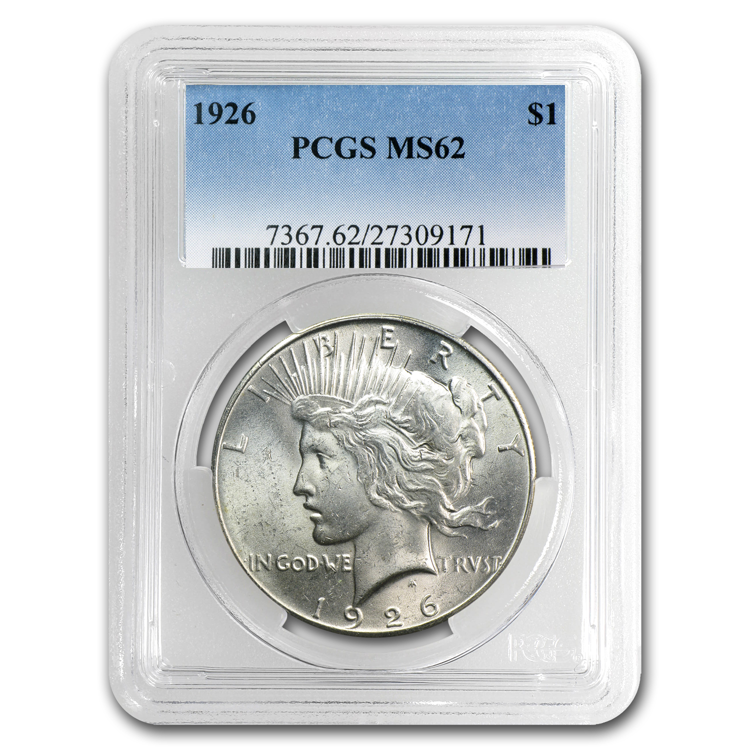 1926 Peace Dollar MS-62 PCGS