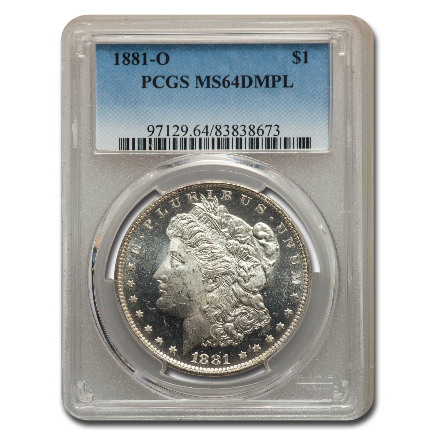 1881-O Morgan Dollar MS-64 DMPL PCGS