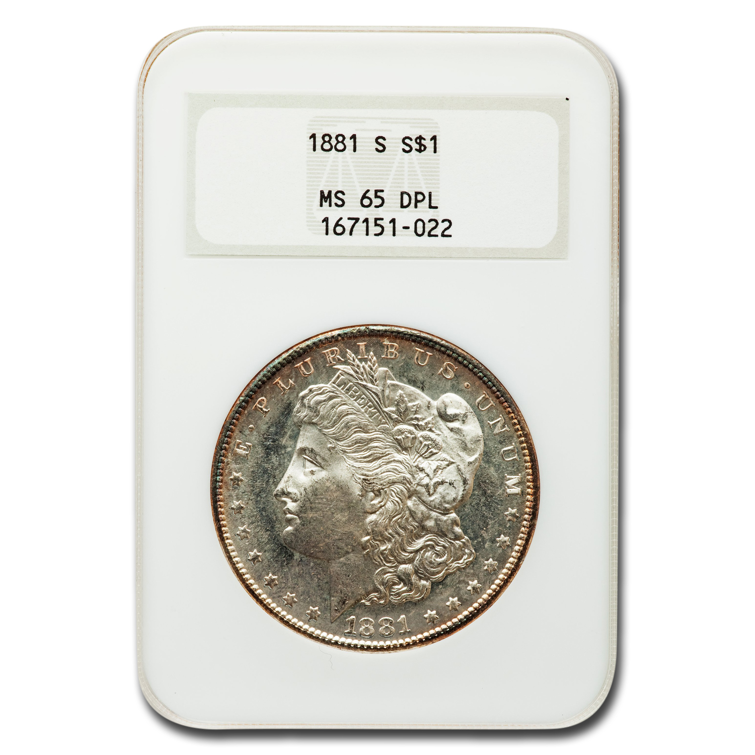 1881-S Morgan Dollar MS-65 DPL NGC