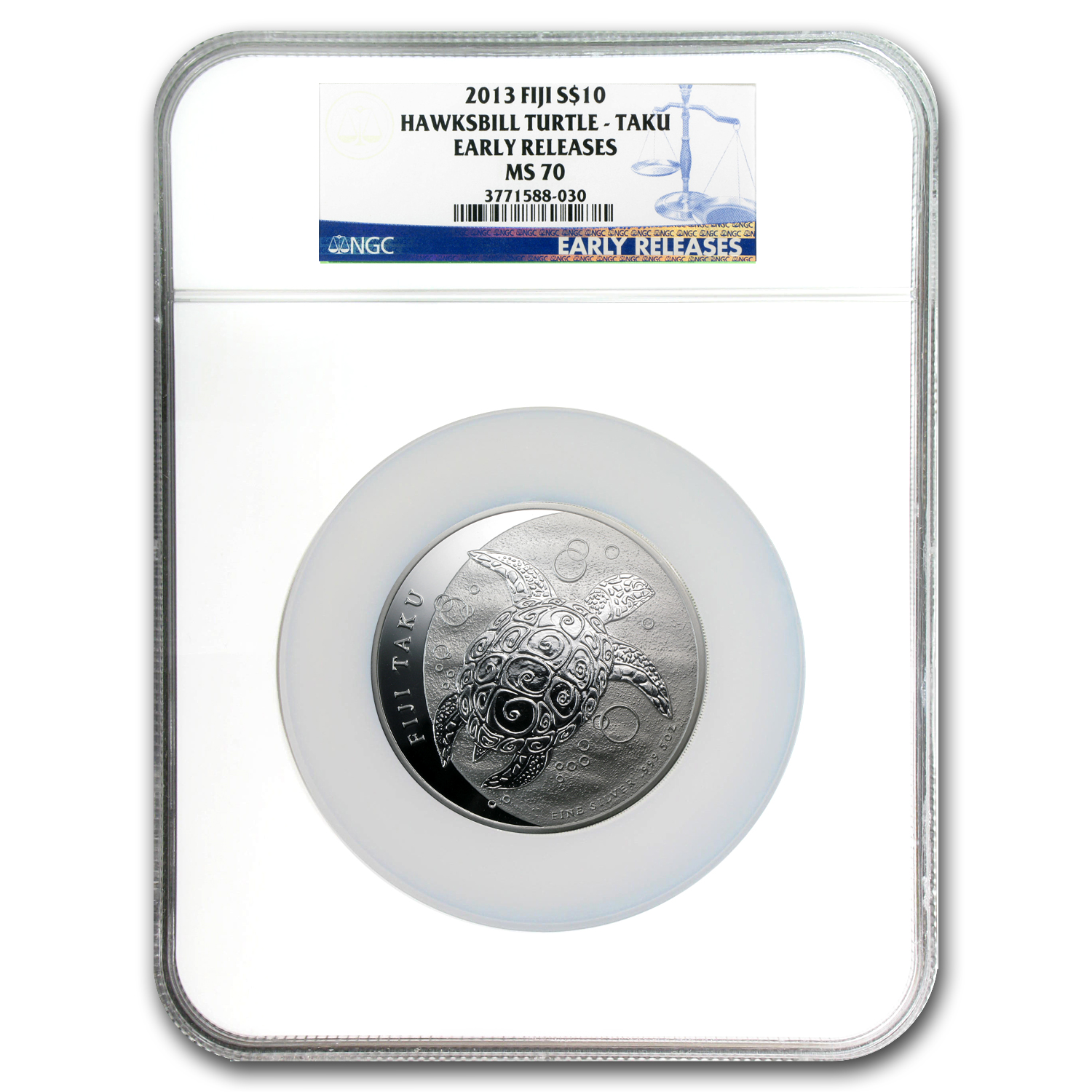 2013 5 oz Silver $10 Fiji Taku MS-70 NGC (Early Release)