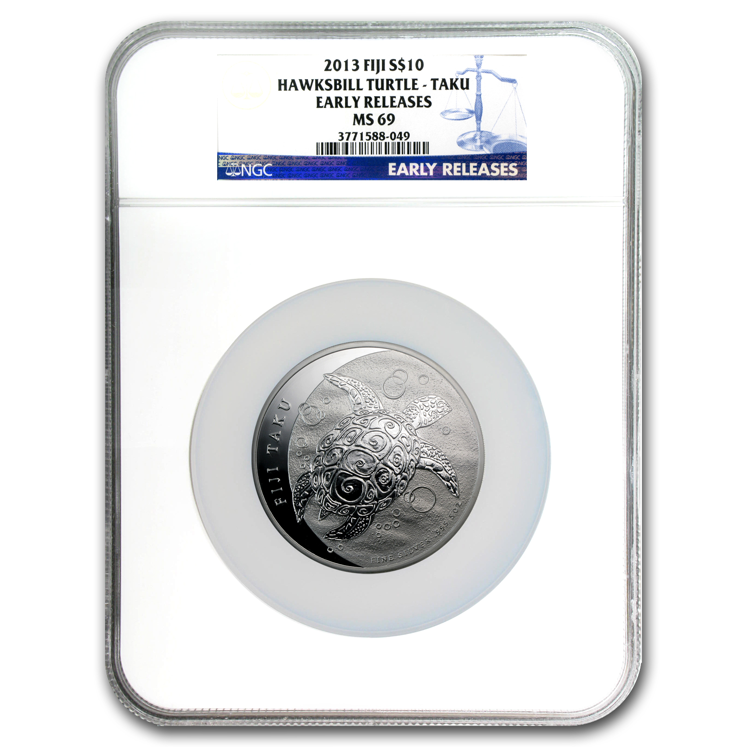 2013 Fiji 5 oz Silver $10 Taku MS-69 NGC (Early Release)