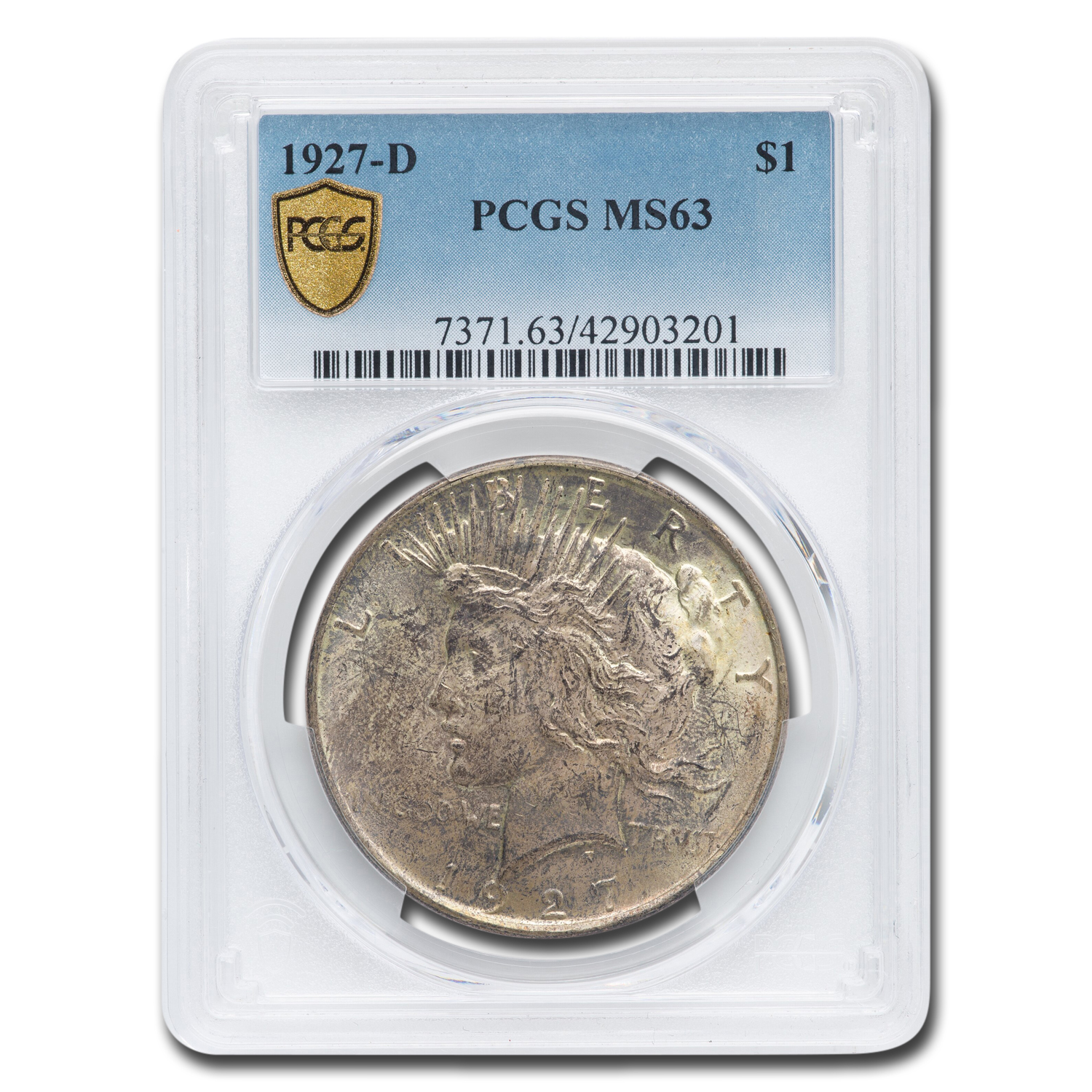 1927-D Peace Dollar MS-63 PCGS