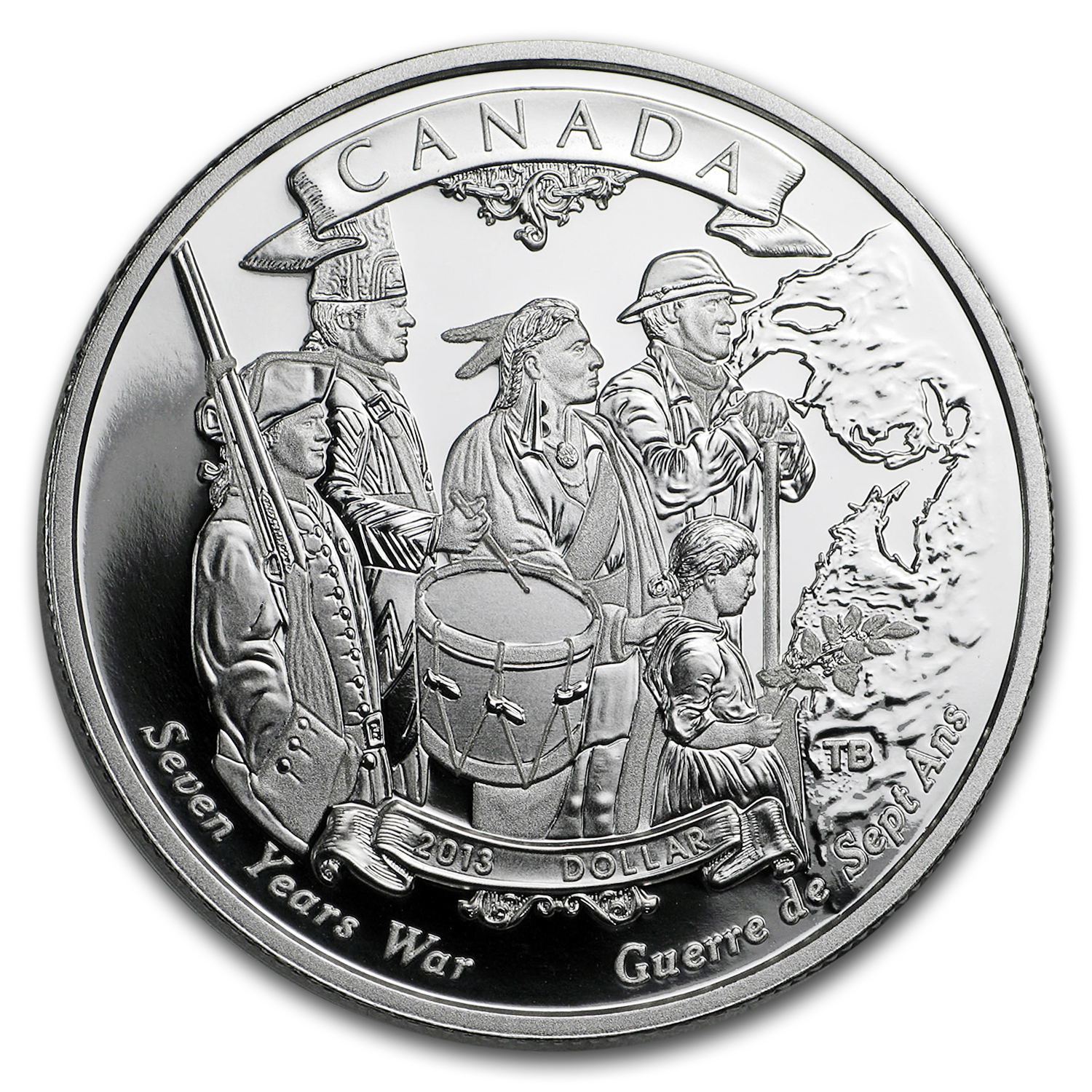 2013 Silver Canadian $1 End of the Seven Years War Proof