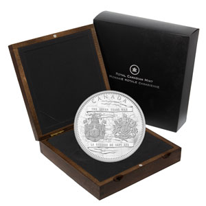 2013 Canada 1 kilo Silver $250 End of the Seven Years War Proof