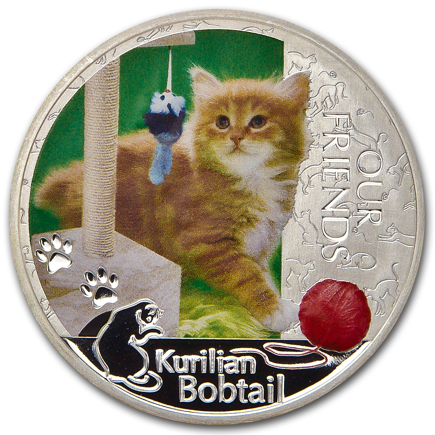 2012 1 oz Silver Niue Friends Kitten Collection - Kurlian Bobtail