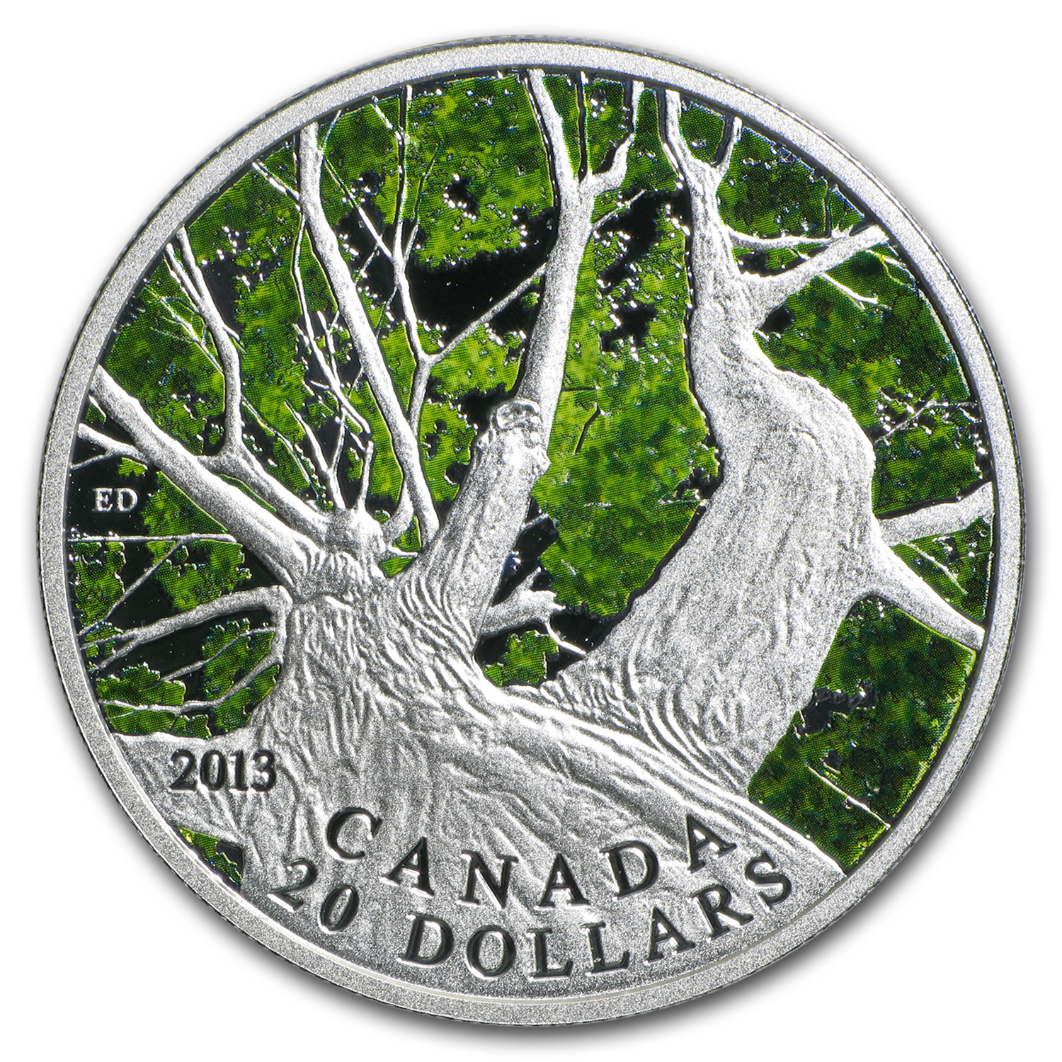 2013 Canada 1 oz Silver $20 Maple Canopy Spring (w/Box & COA)
