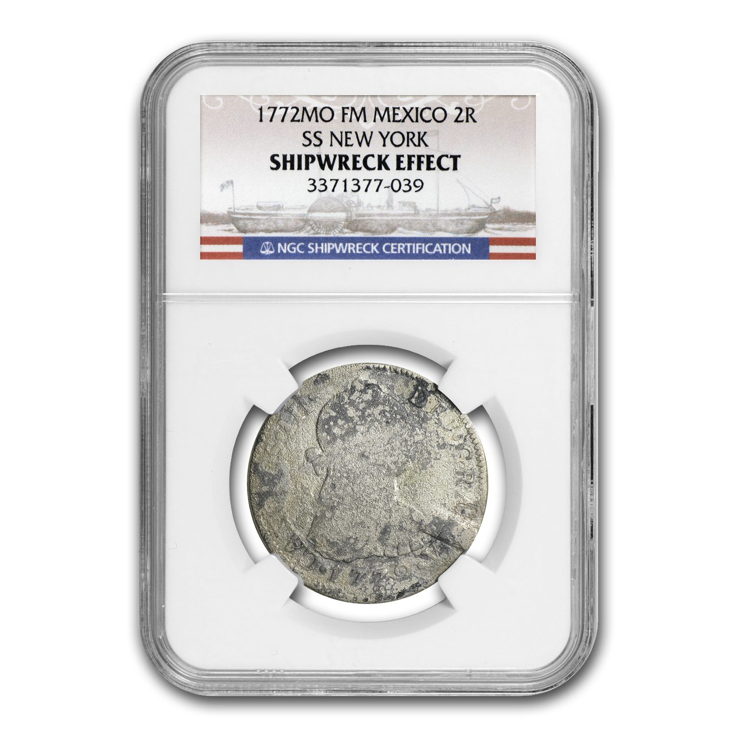 1772 MO FM Mexico 2R SS New York SHIPWRECK EFFECT Coin NGC