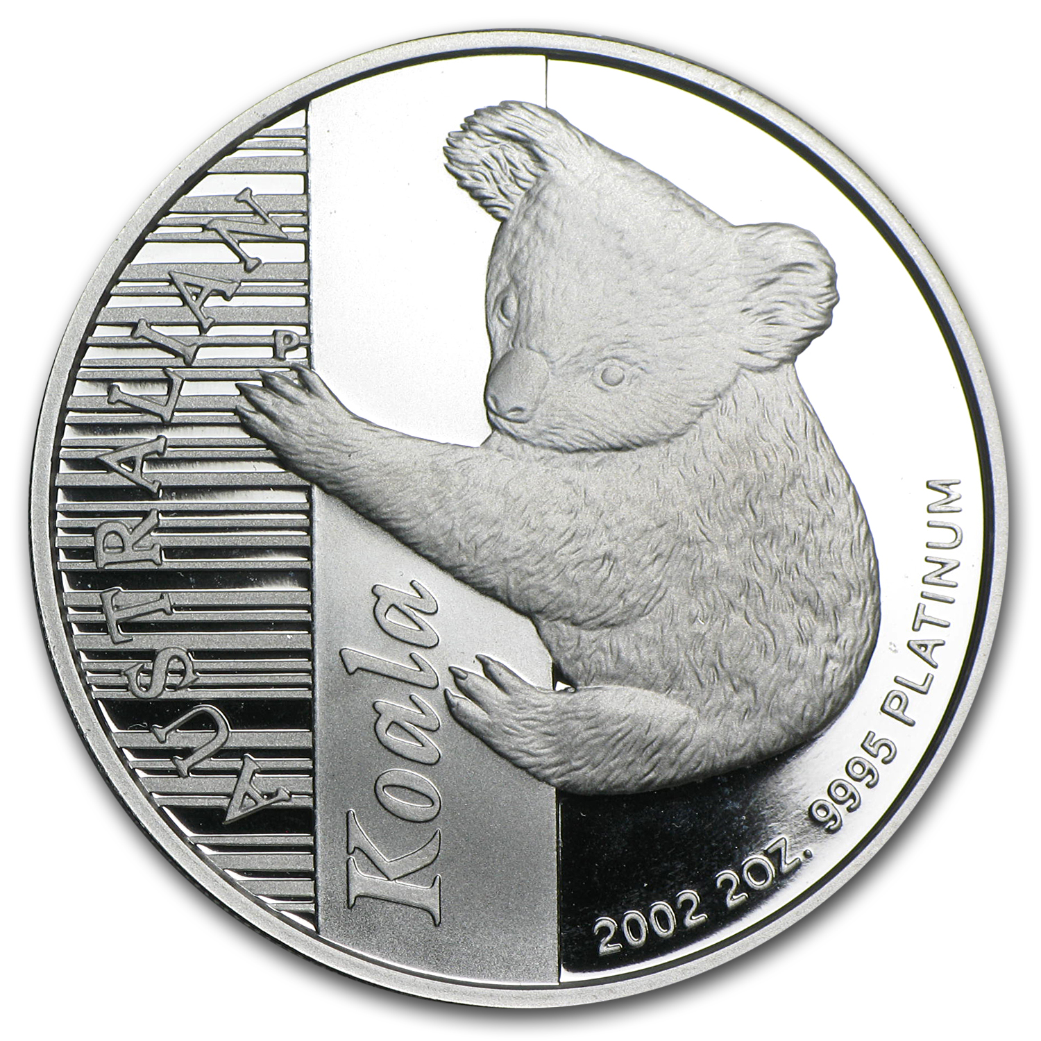 2002 Australia 2 oz Proof Platinum Koala (w/Box & COA)
