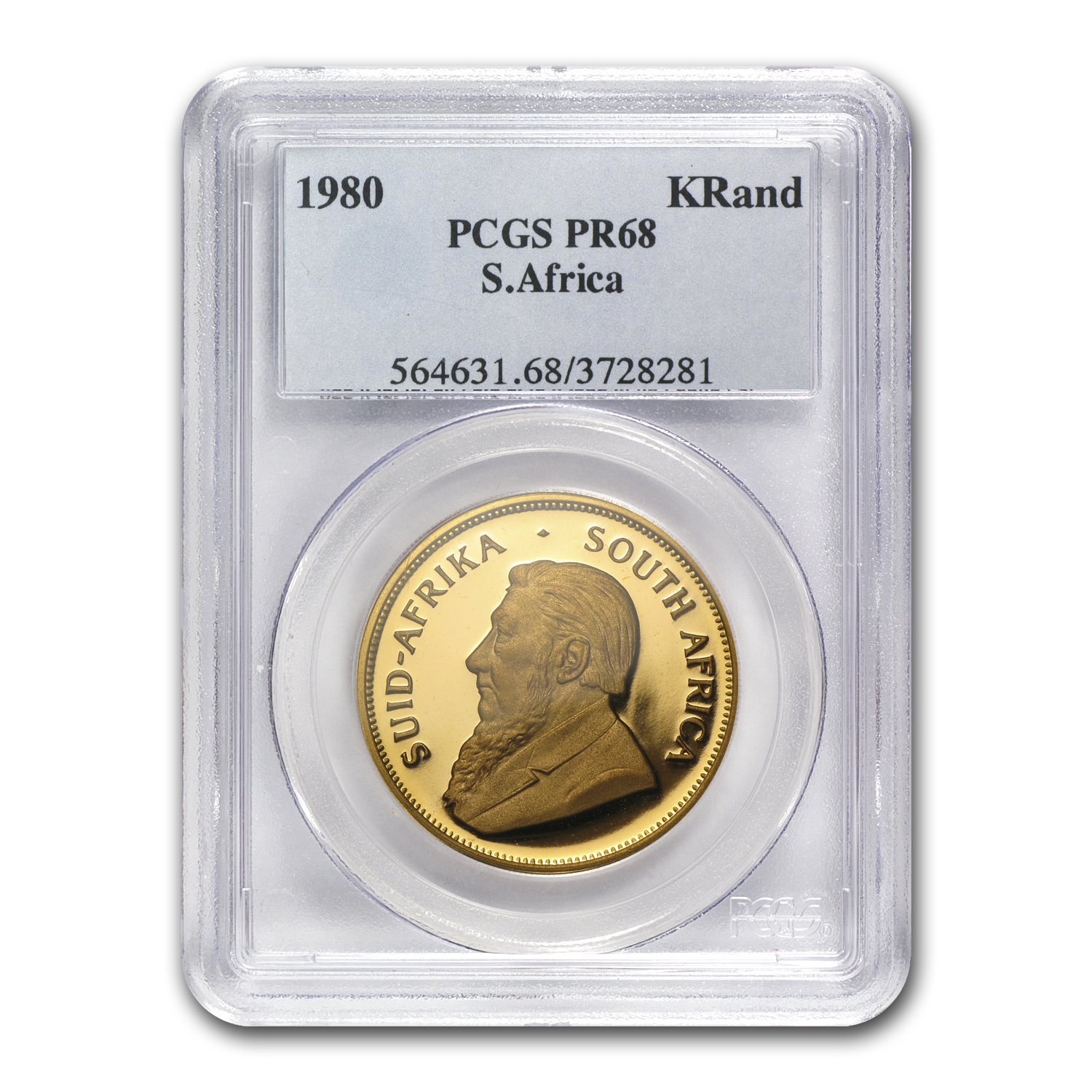 1980 South Africa 1 oz Gold Krugerrand PR-68 PCGS