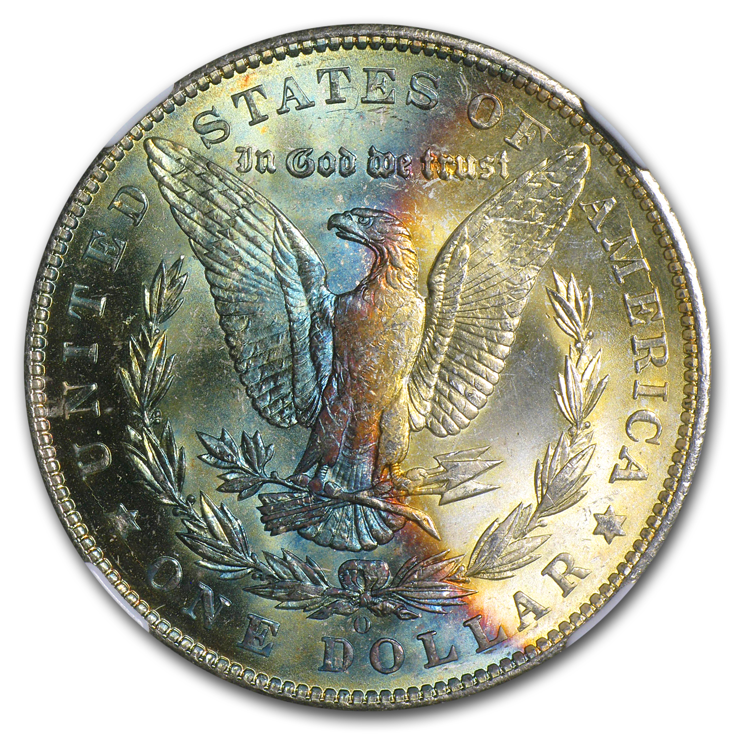 1904-O Morgan Dollar MS-64* Star NGC Blue Reverse Crescent - CAC