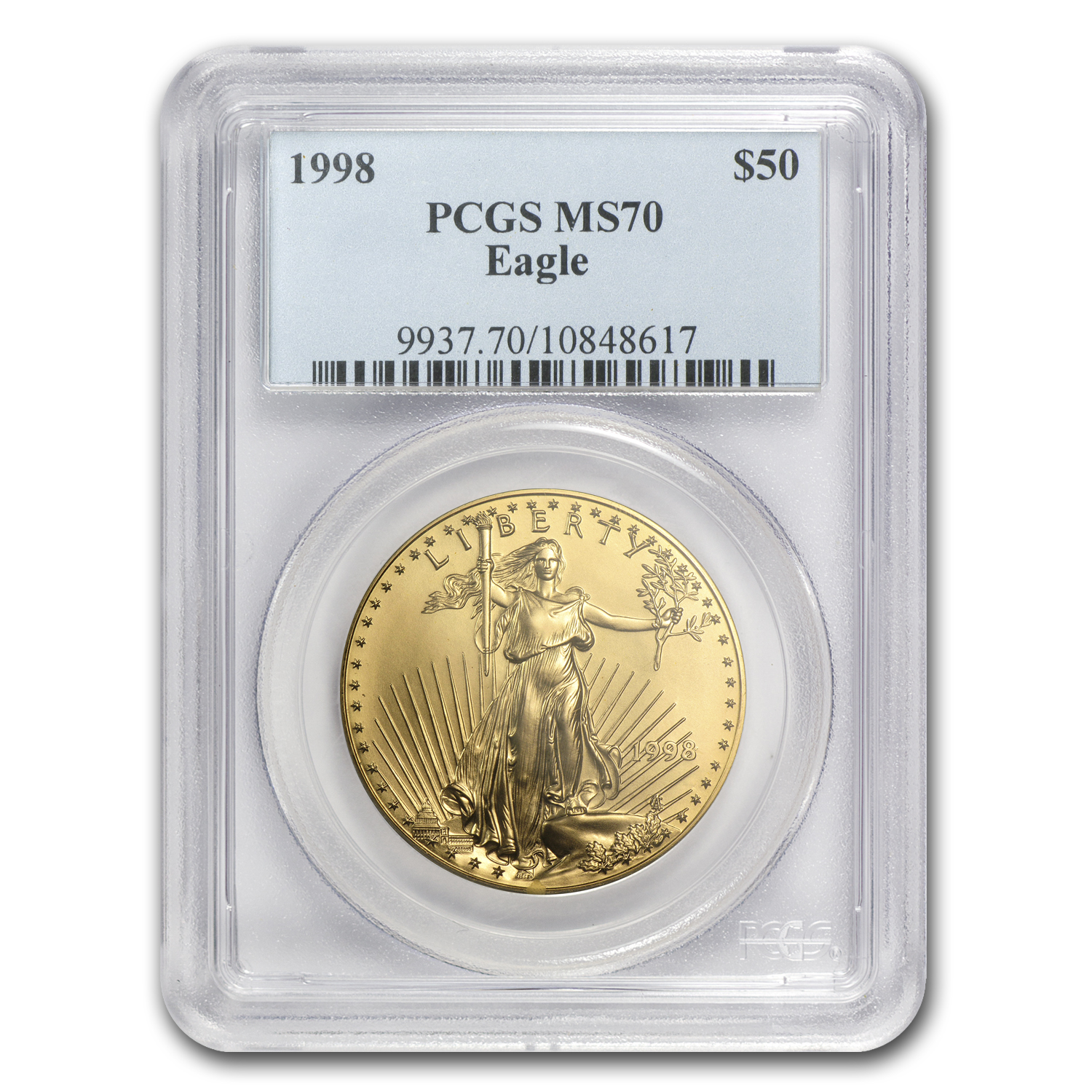 1998 1 oz Gold American Eagle MS-70 PCGS