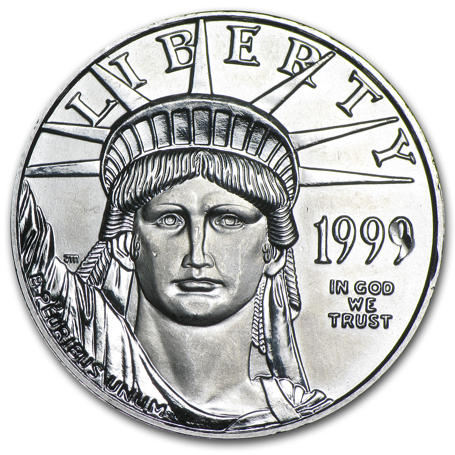 1999 1/2 oz Platinum American Eagle BU