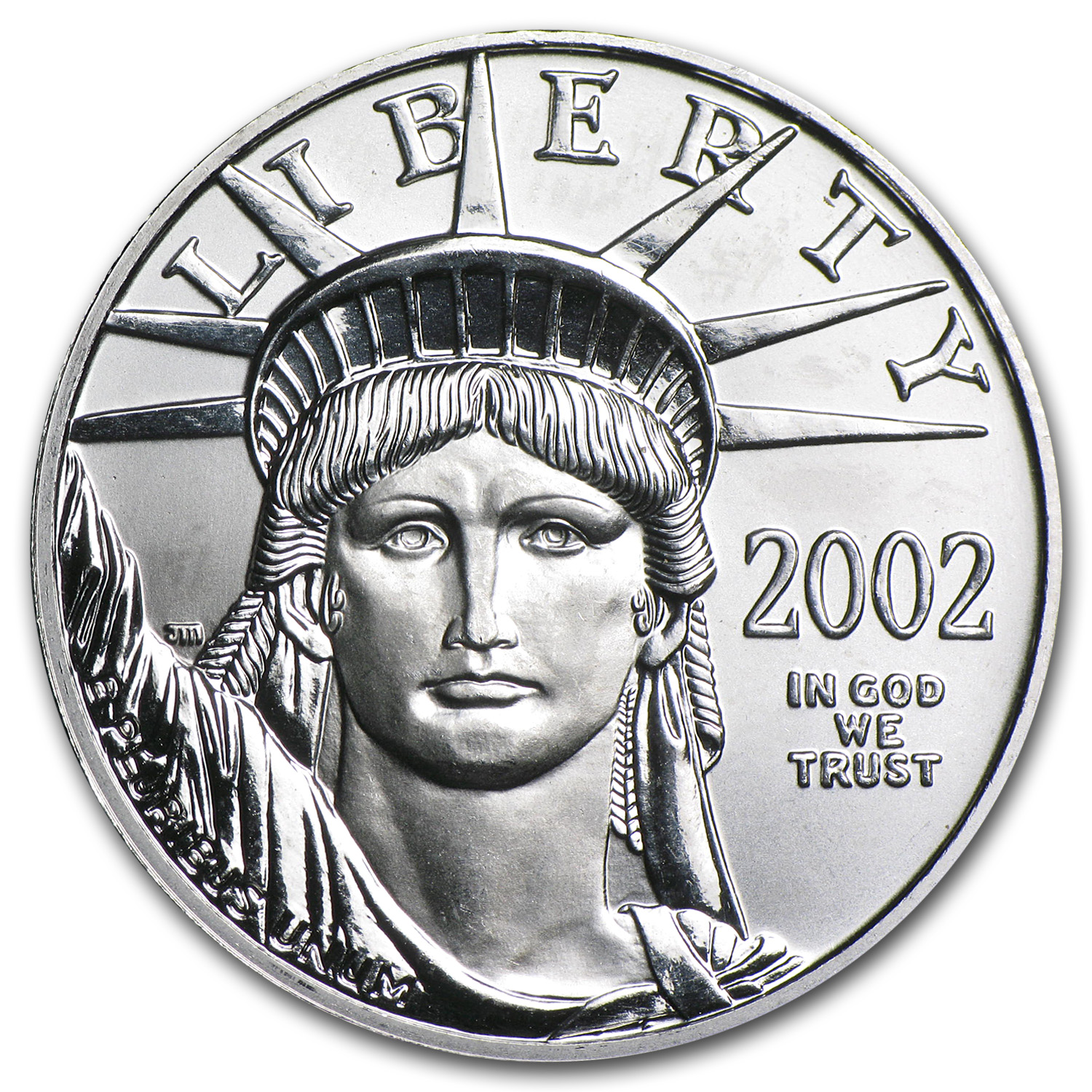 2002 1/2 oz Platinum American Eagle BU