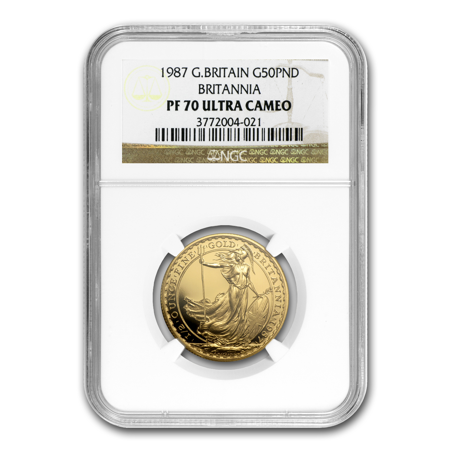 1987 1/2 oz Proof Gold Britannia PF-70 UCAM NGC - Registry Set
