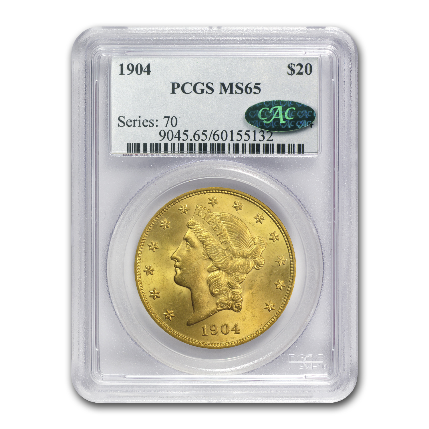 $20 Gold Liberty Double Eagle MS-65 PCGS/NGC (CAC)