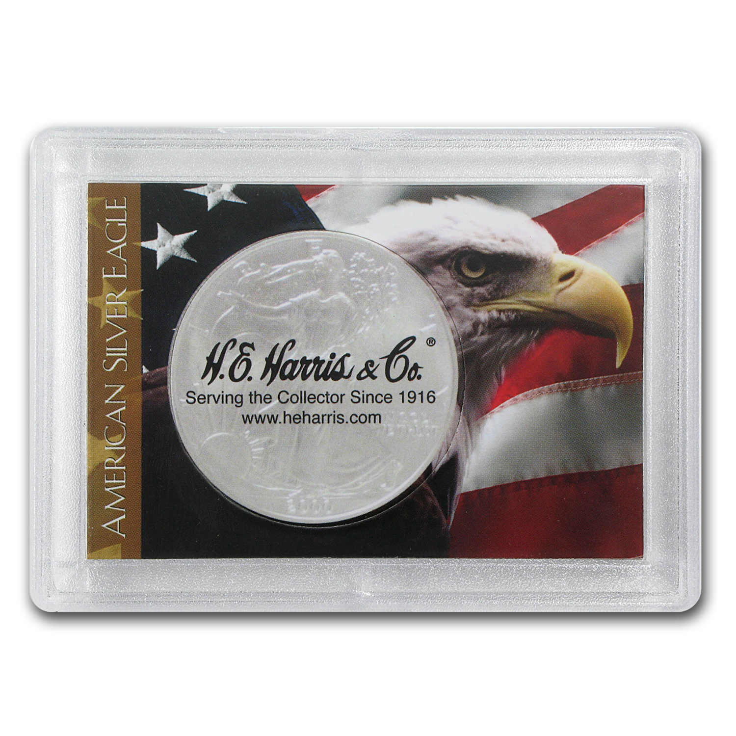 Silver American Eagle Harris Holder (Flag & Eagle Design)