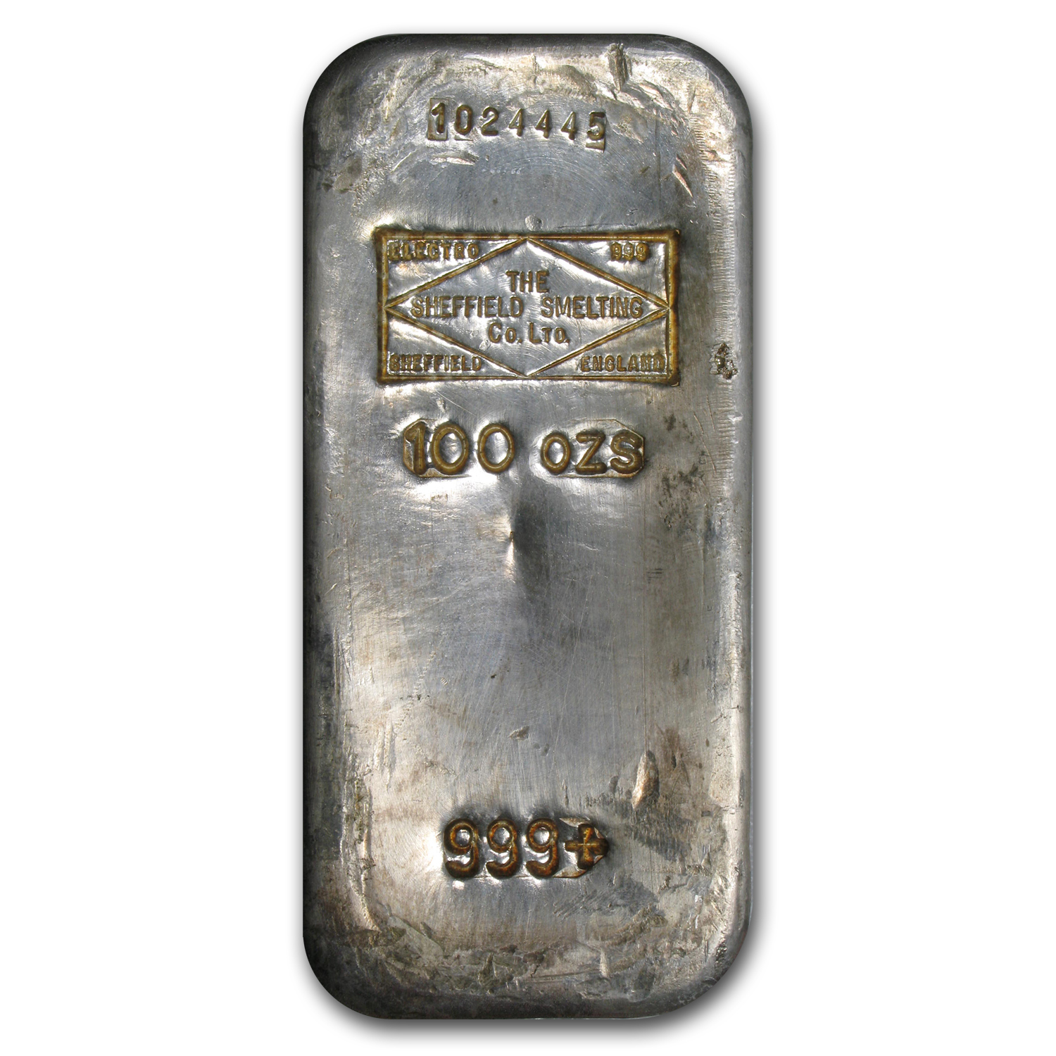 100 oz Silver Bar - Sheffield Smelting Co. Ltd