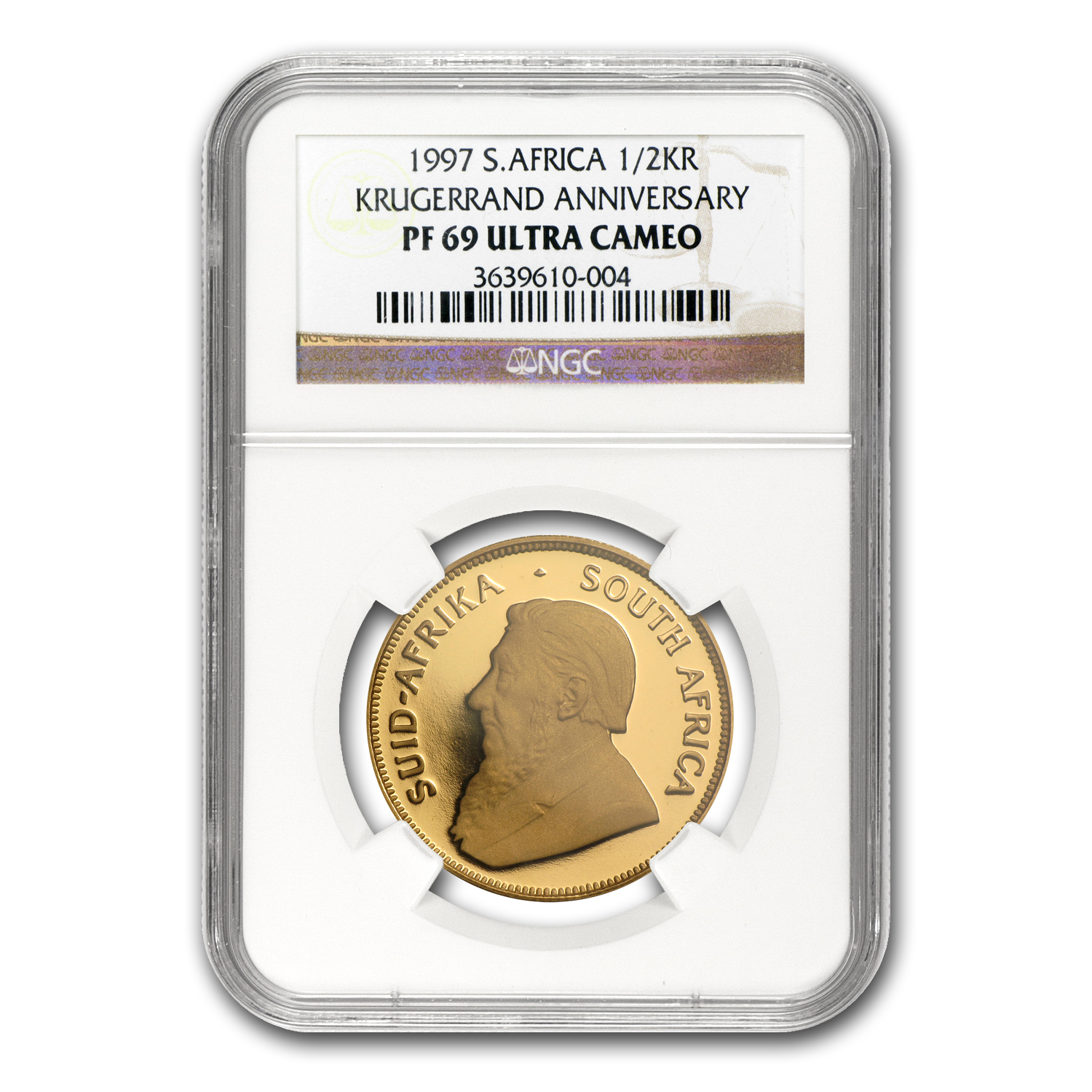 1997 South Africa 1/2 oz Gold Krugerrand PF-69 NGC