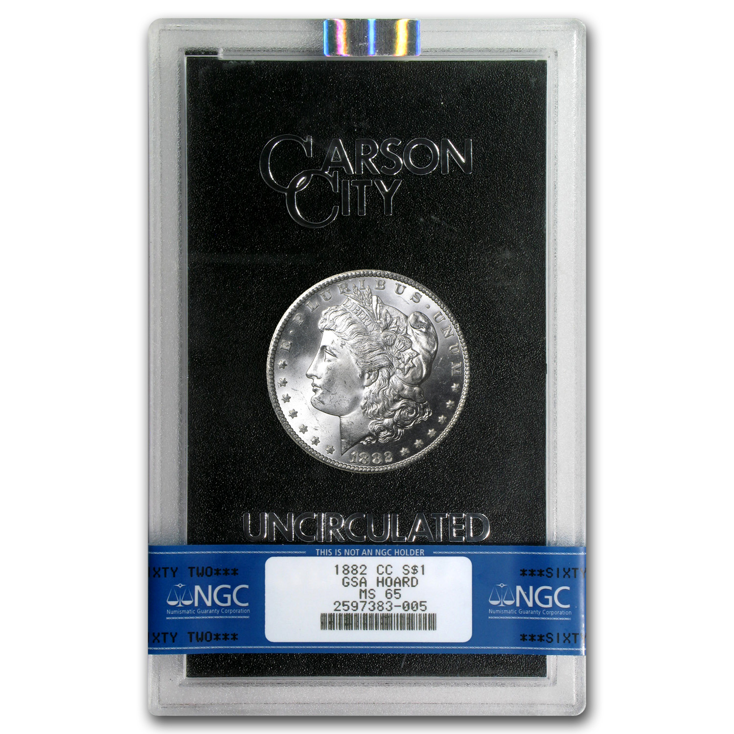 1882-CC Morgan Dollar MS-65 NGC - GSA Certified