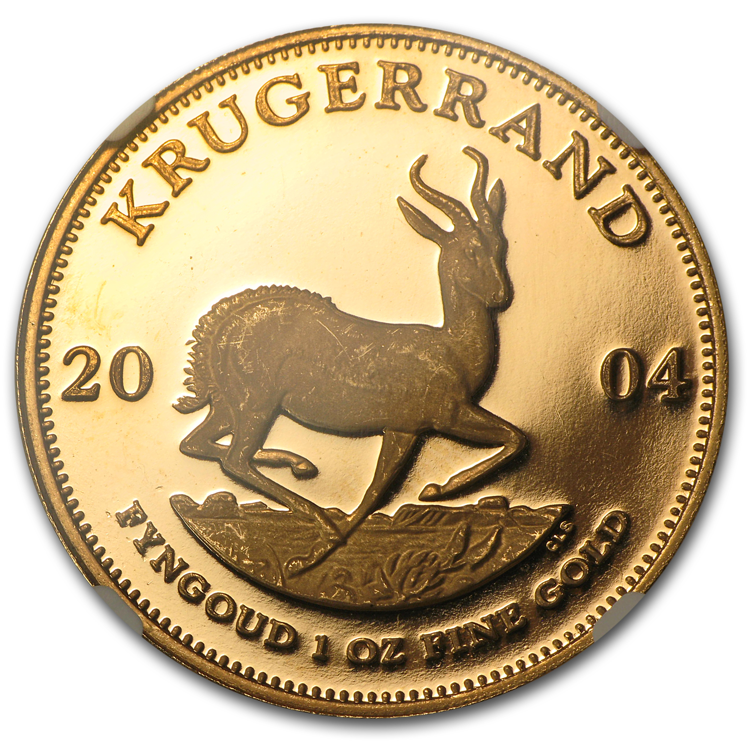 2004 South Africa 1 oz Gold Krugerrand PF-65 NGC (Signature)