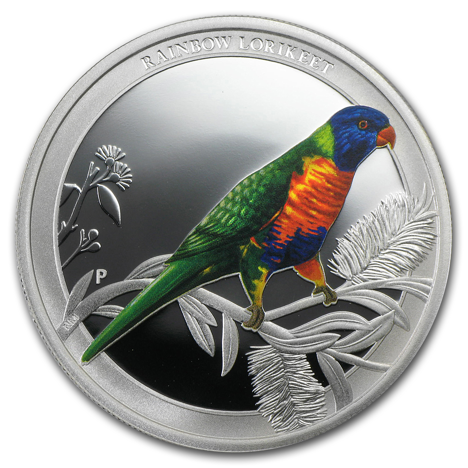 2013 Australia 1/2 oz Silver Rainbow Lorikeet Proof