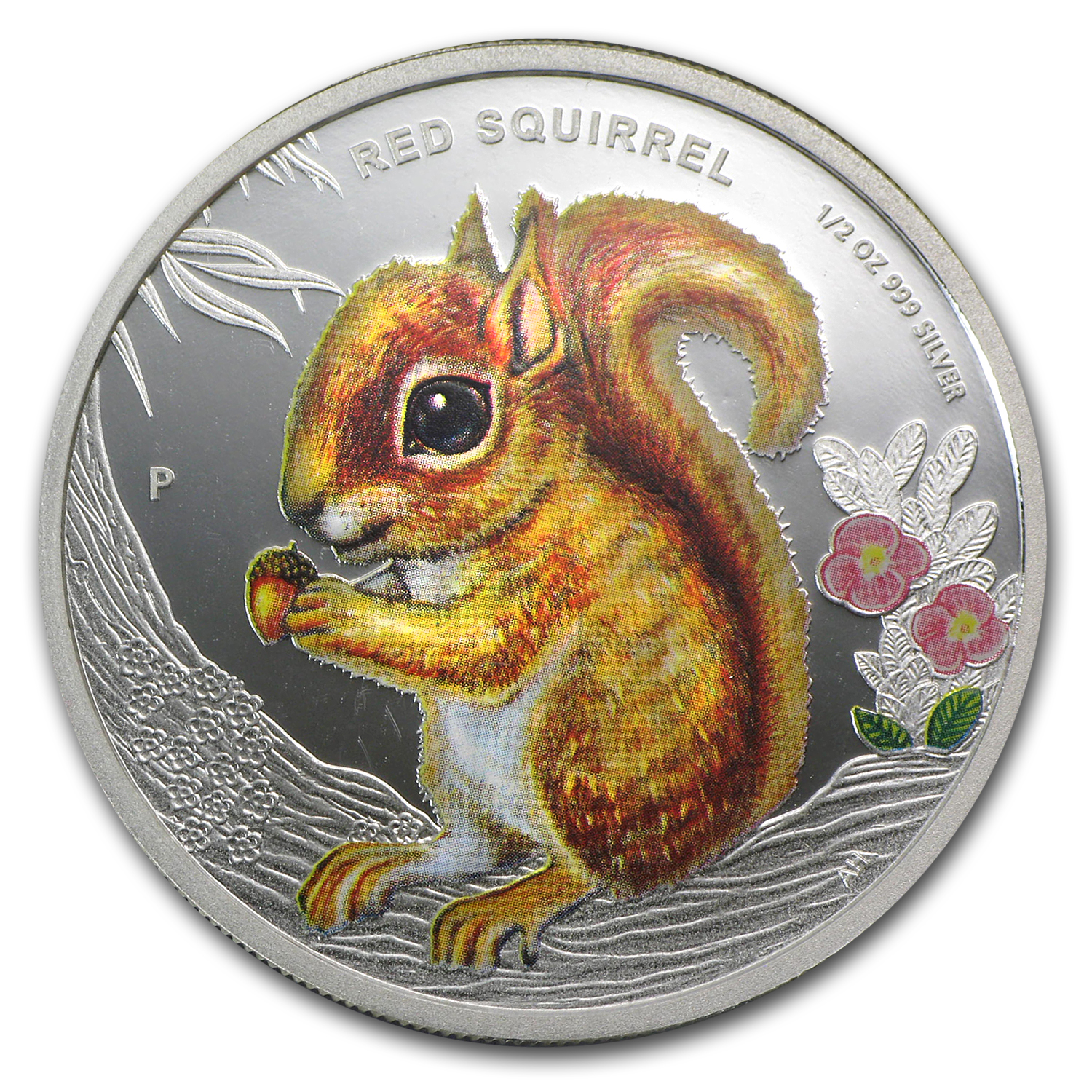 2013 Tuvalu 1/2 oz Proof Silver Forest Babies (Red Squirrel)