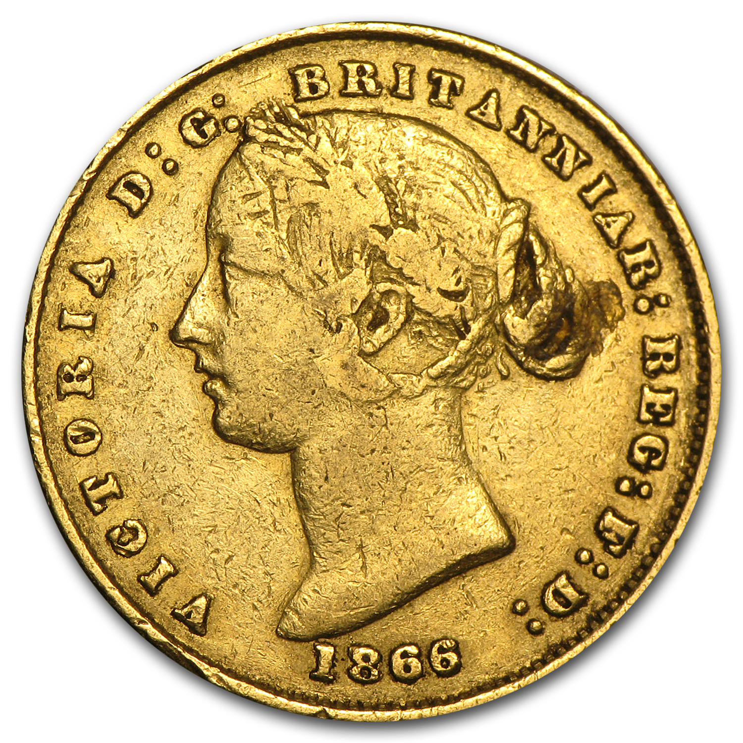 1857-1870 Australia Gold Sovereign Victoria Sydney Mint Avg Circ