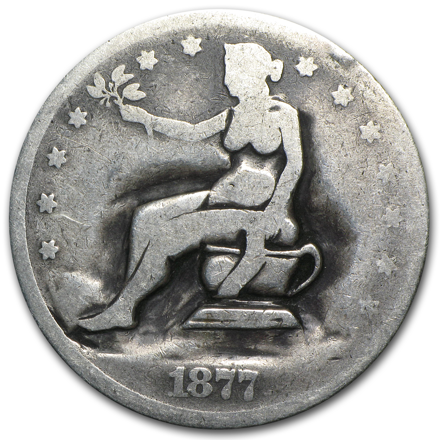 1877 Trade Dollar - Potty Dollar