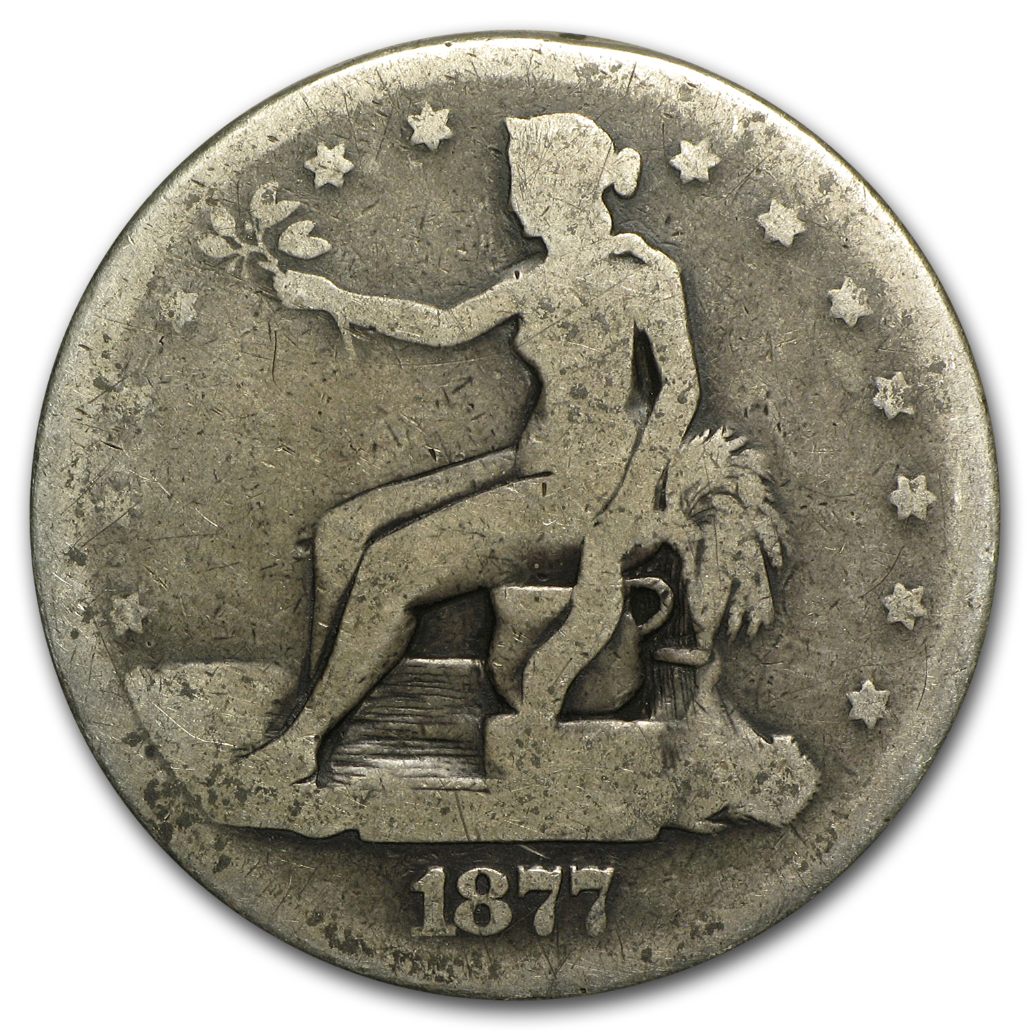 1877 Trade Dollar - Potty Dollar Scarce