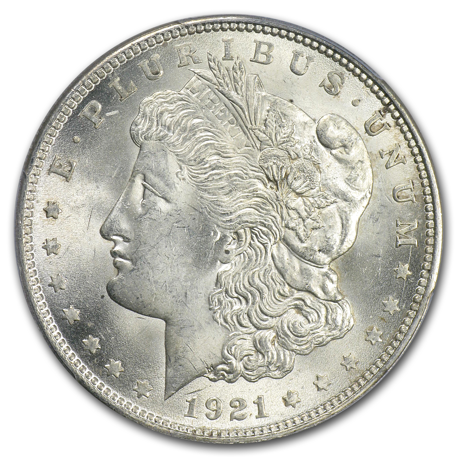 1921 Morgan Dollar - MS-63+ PCGS