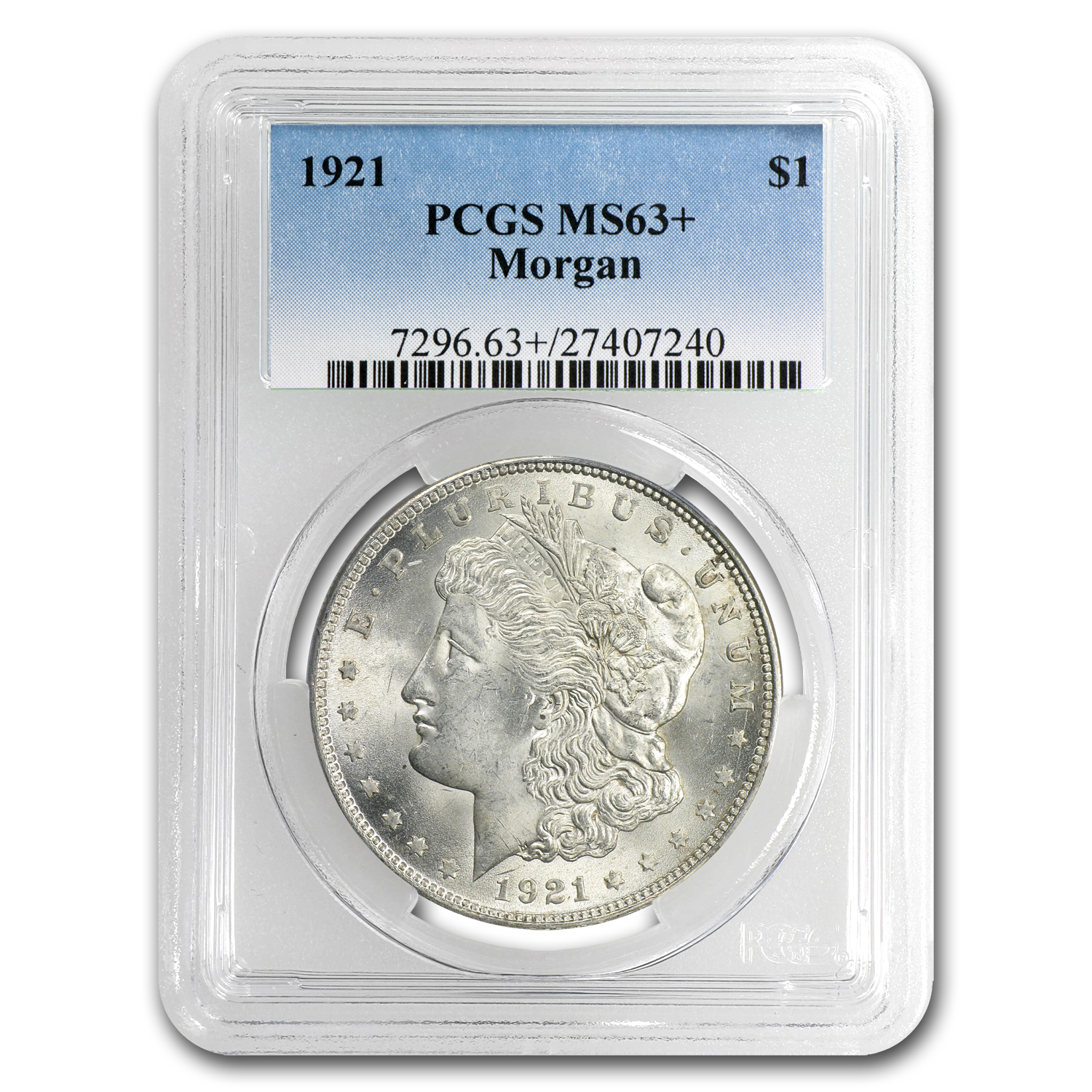 1921 Morgan Dollar MS-63+ PCGS